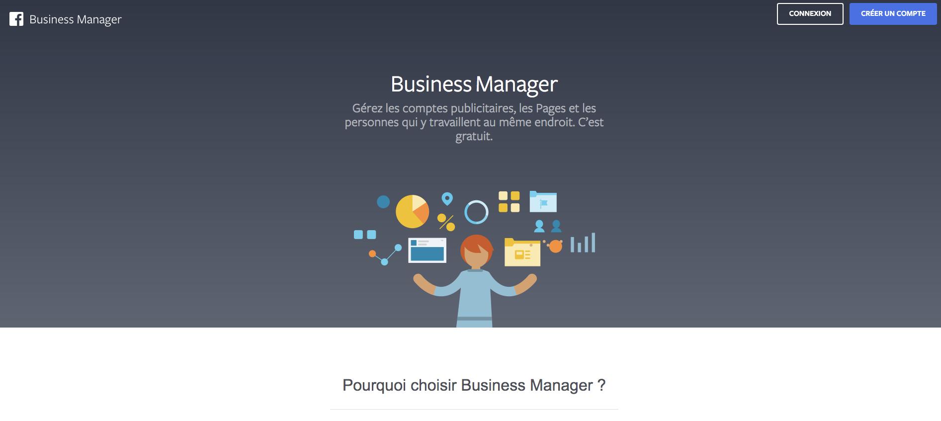 Créer un compte Facebook Business Manager